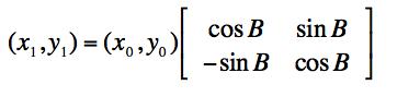 旋转后的矩阵表达式